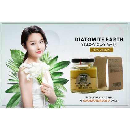 My Fav Recipe Diatomite Earth Yellow Clay Mask