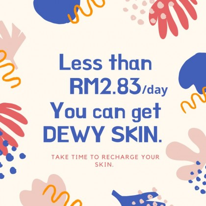 30 days Value Package -For Combination Skin Type +Free exfoliating gel &4 pair eye mask